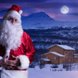 Stock Photo: Portrait of SantClaus at North Pole