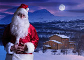 Portrait of Santa Claus at the North Pole — Stock Photo