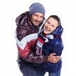 Young couple dressed in winter clothes — Stock Photo #7510707