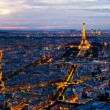 Panorama of Paris from the Montparnasse Tower. — Stock Photo