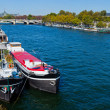 A barge on the Seine - Stock Photo