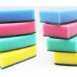 Stock Photo: Colour sponges for dishwashing