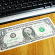 Stock Photo: Dollar and keyboard