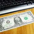 Stockfoto: Dollar and keyboard