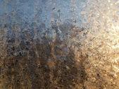 Patrón de hielo sobre el vidrio — Foto de Stock
