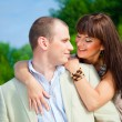 Happy enamoured couple embracing — Stock Photo