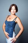 Elegant woman wearing blue — Foto Stock