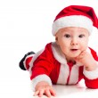 Little cute baby gnome in red — Stock Photo