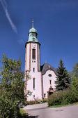 Vesnický kostel ve Vogtlandu — Stock fotografie