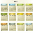 2012 calendar - square frames with tabs — Stock Vector #6830299