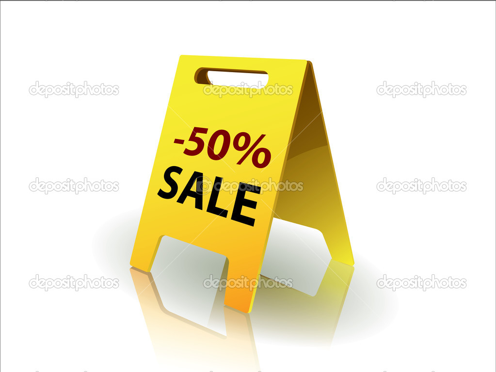 50 Percent sale — Stock Vector #6913625