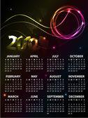 Progettazione calendario 2012 — Vettoriale Stock