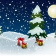 Royalty-Free Stock Imagem Vetorial: Christmas night