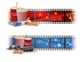 Cinema Banners — Stock Vector