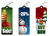 Christmas discount tags — Wektor stockowy