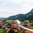 Small alpine town — Stock Photo