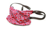 Floral bag on white — Stock Photo