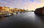 Bremen weser nehri üzerinde göster — Stok fotoğraf