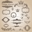 Stock Vector: Set of vintage elements for your design