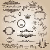 Set of vintage elements for your design — Stock Vector