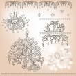 Set of Christmas items - Stock Vector