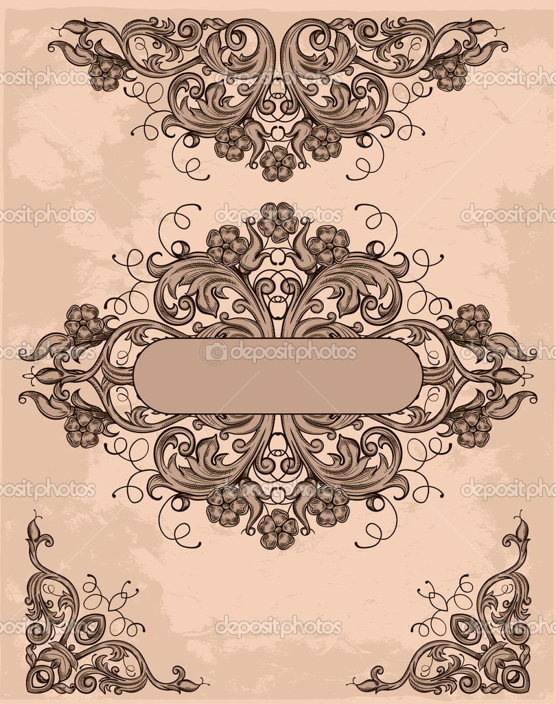 retro design elements stock vector tory 7527208. Black Bedroom Furniture Sets. Home Design Ideas