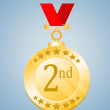 Stock Photo: Second Position Medal