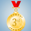 Stock Photo: Third Position Medal