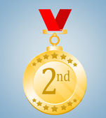 Second Position Medal — Foto Stock