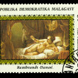 "Stamp USSR year with reproduction "" Danea"" — Stock Photo"