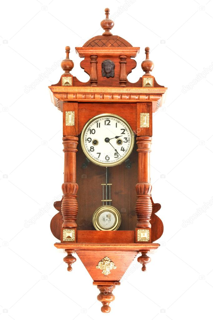 Old wooden clocks  Stok fotoraf #6885760