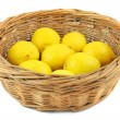 Lemons in basket — Stock Photo