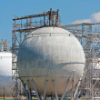 Refinery storage tanks — Stock Photo