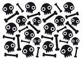 Skulls and bones — Stock Vector