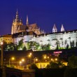 Prague castle at night — Stock Photo #7415437