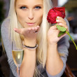 Royalty-Free Stock Photo: Blow kiss