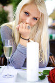 Beautiful woman on a date with you — Stock Photo