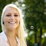 diversión con burbujas — Foto de Stock