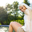 Female at fountain — Stock Photo #7156385