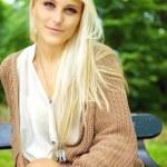 Serene Enigmatic Blonde Beauty — Stock Photo