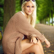Glamorous Fashion Model In Knitwear — Stock fotografie
