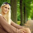 Attentive Sexy Young Blonde Lady — Stock Photo
