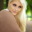 Blue-eyed Blonde Beauty — Stock Photo