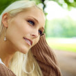 Beautiful Blonde In Wistful Contemplation - Stock Photo