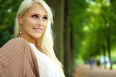 Attractive Confident Self-assured Blonde Woman — Stock Photo