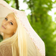 Dreamy Young Woman In Park — Stock Photo #7347259