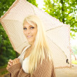Stock Photo: Beautiful Girl With Umbrella