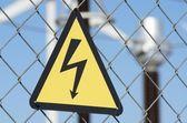 Riziko úrazu elektrickým proudem — Stock fotografie