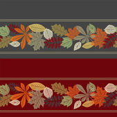 Colorful autumn leaf seamless pattern — Stockvector