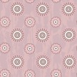 Retro seamless pattern with round flowers — Stock Vector
